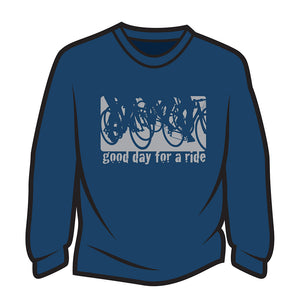 Dark Blue Good day for a ride Sweatshirt