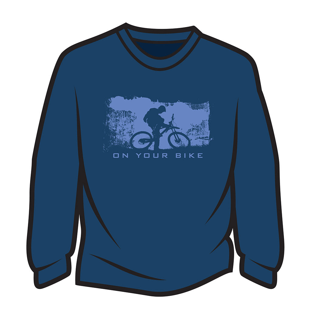Dark Blue On your bike Long Sleeve T-Shirt