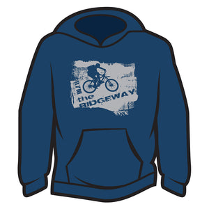 Dark Blue The Ridgeway biker Hoodie
