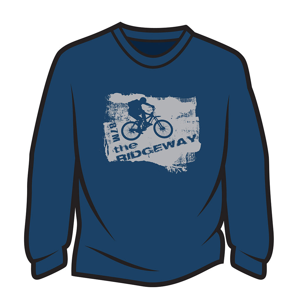 Dark Blue The Ridgeway biker Long Sleeve T-Shirt