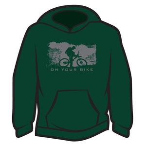 Dark Green On your bike Hoodie