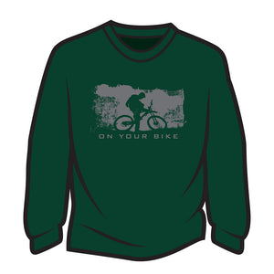 Dark Green On your bike Long Sleeve T-Shirt