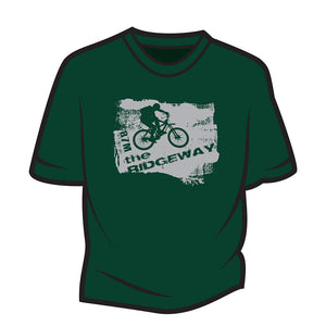 Dark Green The Ridgeway biker T-Shirt