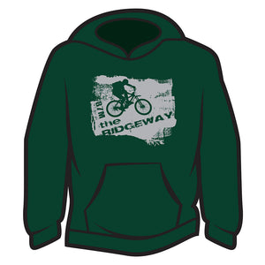 Dark Green The Ridgeway biker Hoodie