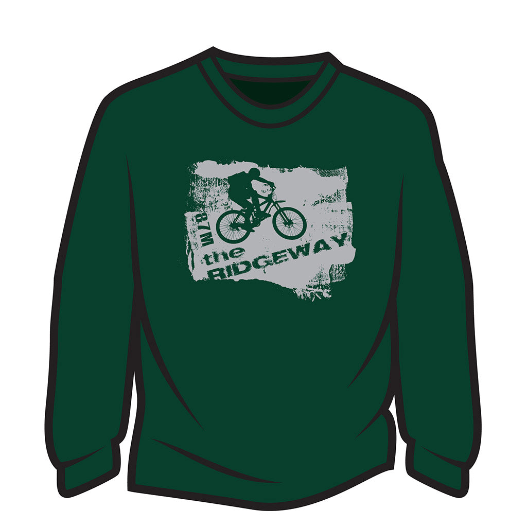 Dark Green The Ridgeway biker Long Sleeve T-Shirt