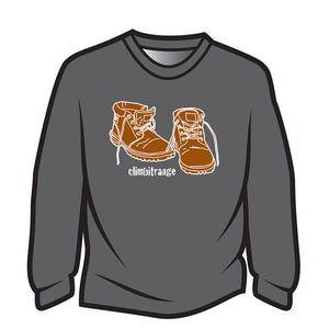 Dark Grey climbitrange Boots Sweatshirt