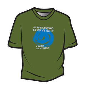 Green Jurassic Coast Design 1 T-Shirt