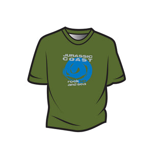 Green Jurassic Coast Design 1 Kids T-Shirt