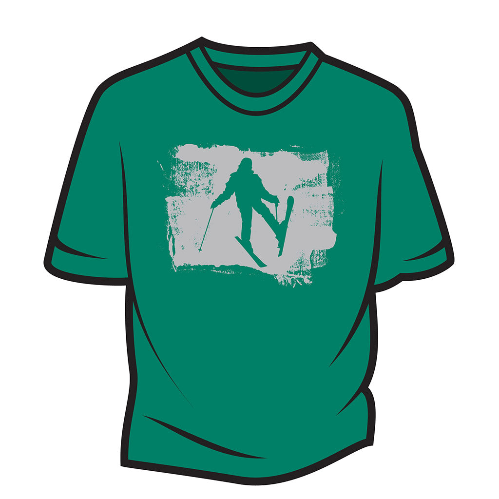 Green Skier Design 2 T-Shirt