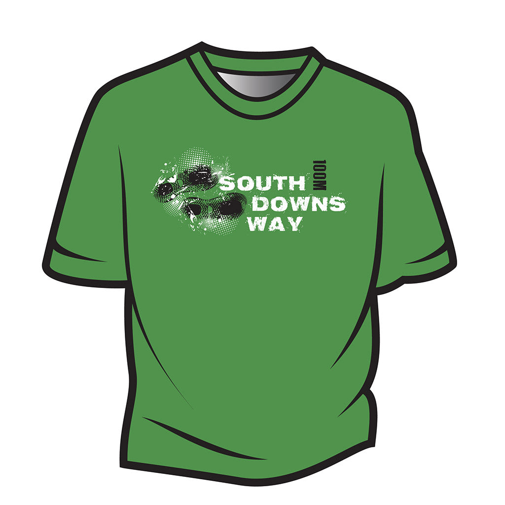 Green South Downs Way Design 1 T-Shirt