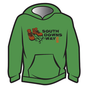 Green South Downs Way Design 2 Hoodie