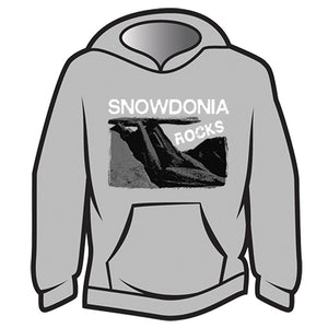 Light Grey Snowdonia Rocks Hoodie