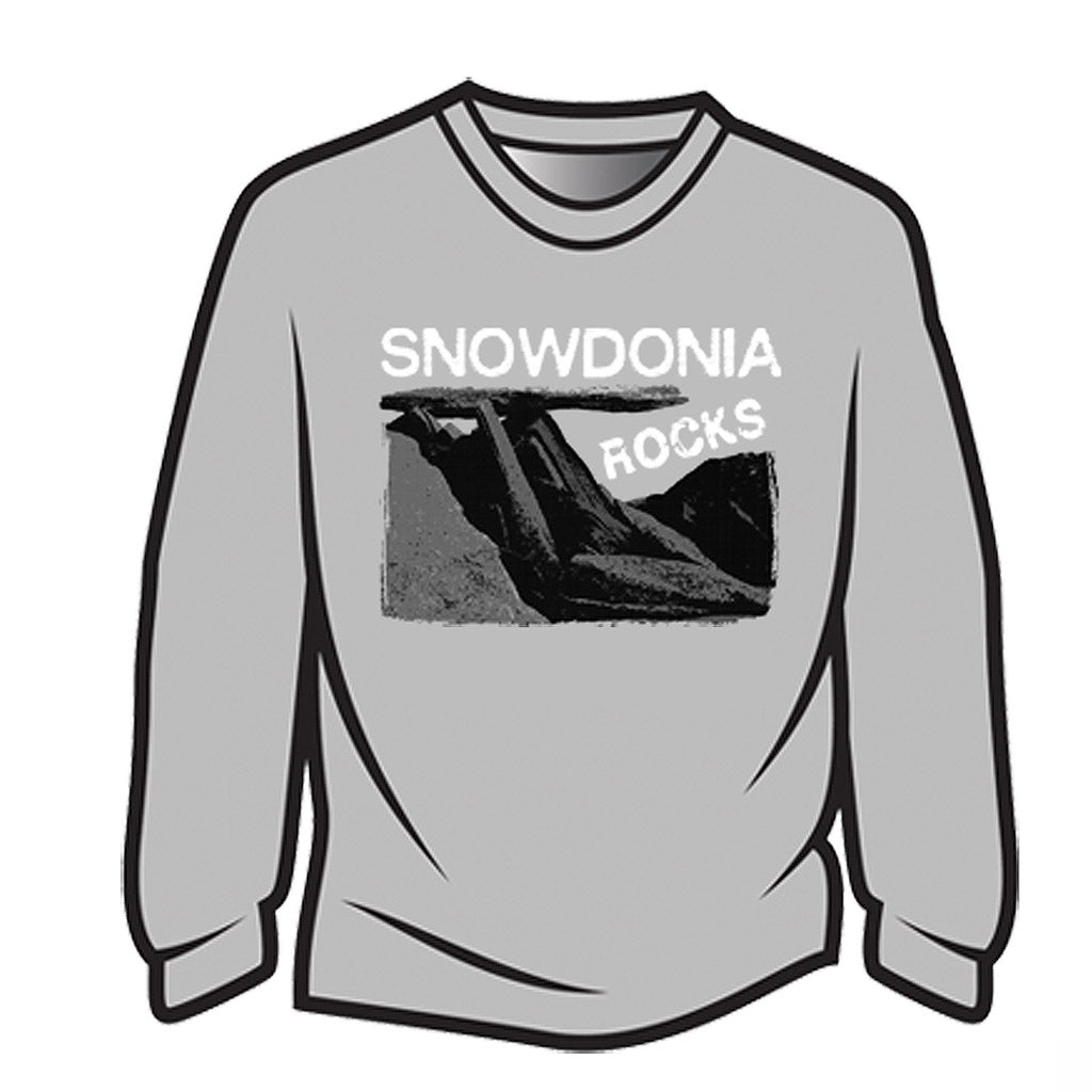 Light Grey Snowdonia Rocks Sweatshirt