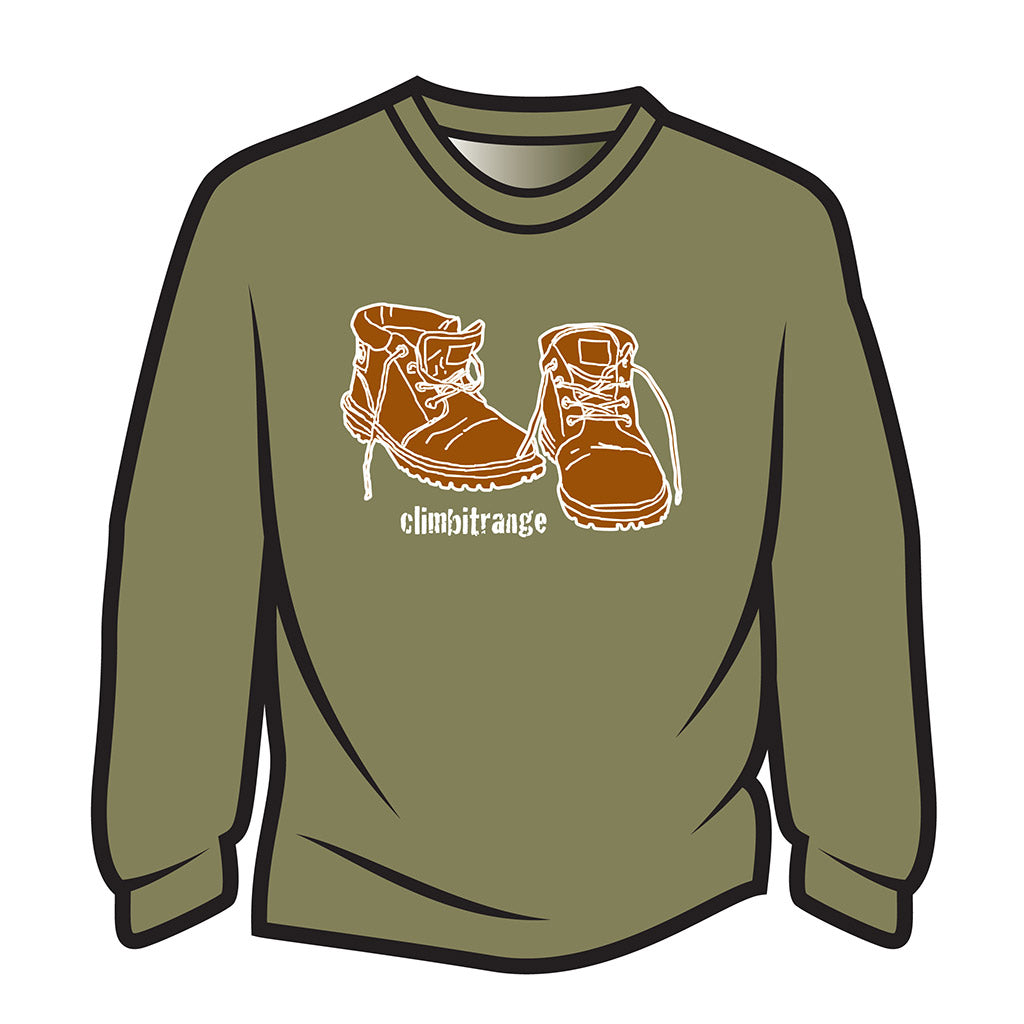 Khaki climbitrange Boots Long Sleeve T-Shirt