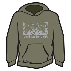 Khaki Good day for a ride Hoodie