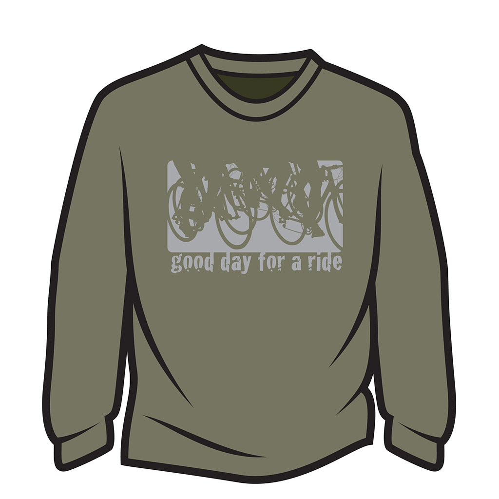 Khaki Good day for a ride Sweatshirt
