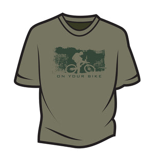Khaki On your bike T-Shirt