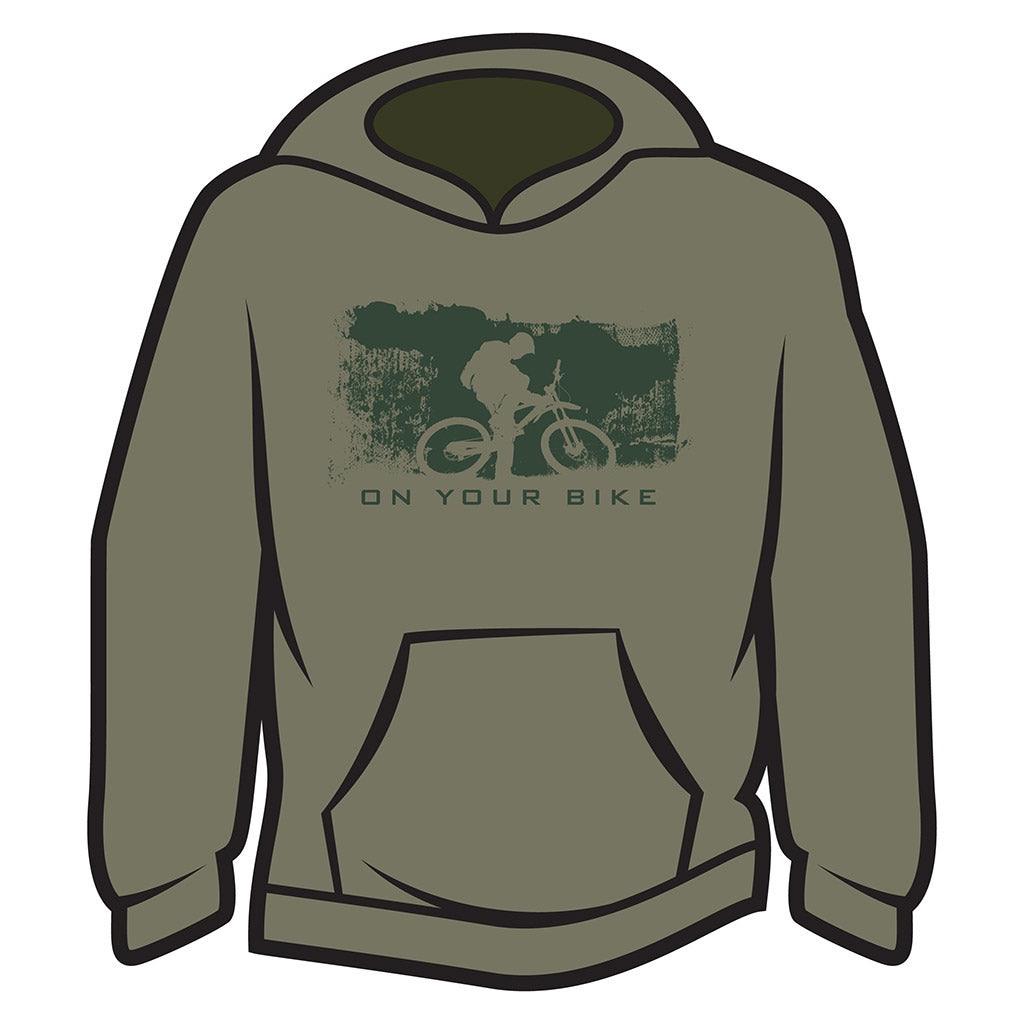 Khaki On your bike Hoodie