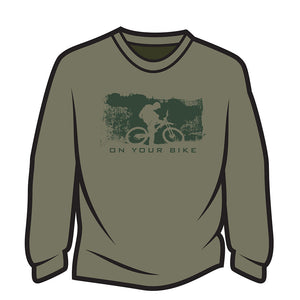 Khaki On your bike Long Sleeve T-Shirt