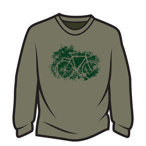 Khaki Road bike Long Sleeve T-Shirt