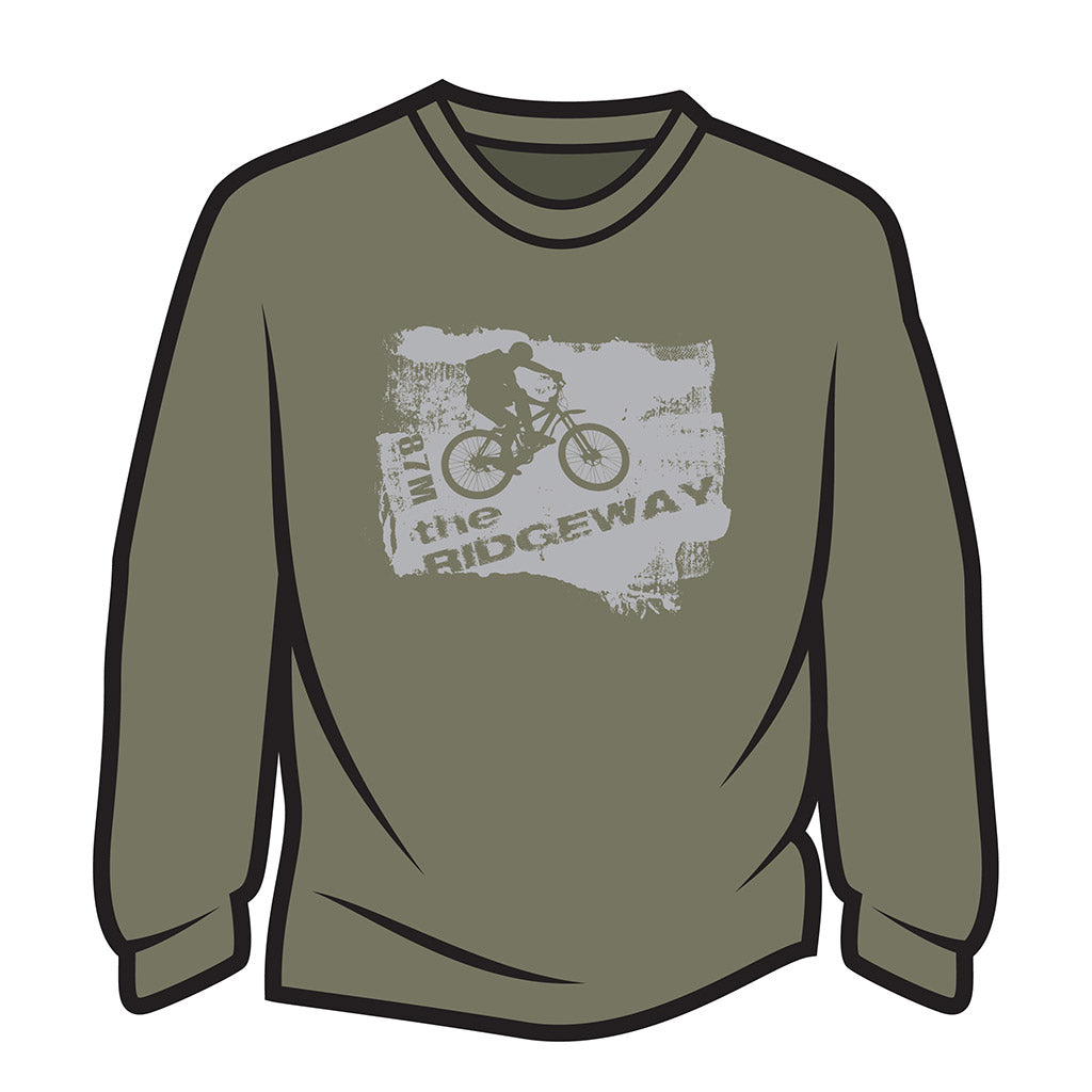 Khaki The Ridgeway biker Long Sleeve T-Shirt