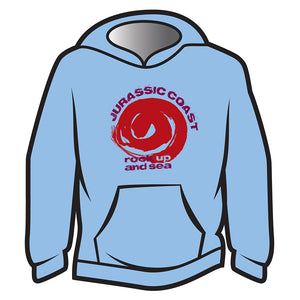 Light Blue Jurassic Coast Design 2 Hoodie