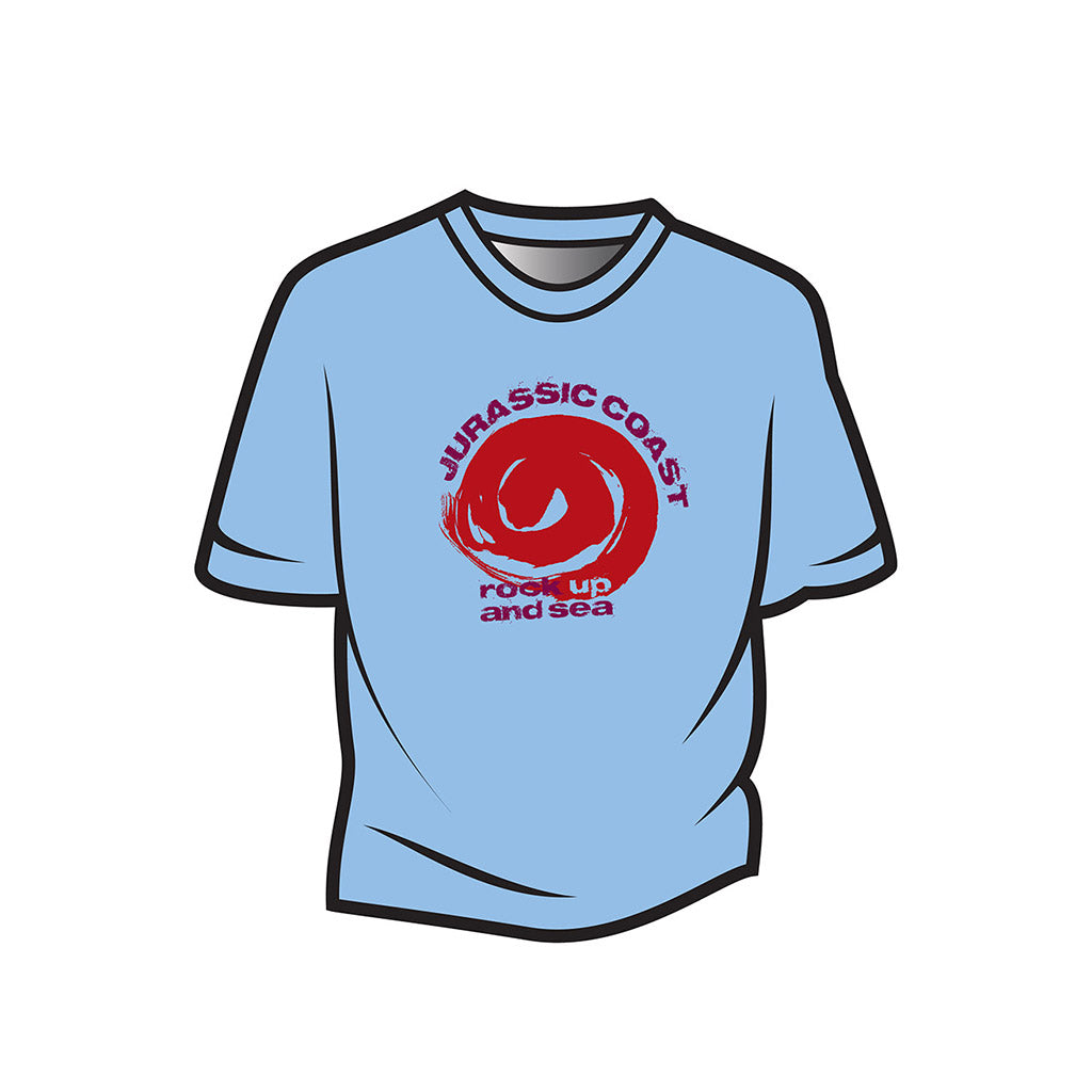 Light Blue Jurassic Coast Design 2 Kids T-Shirt