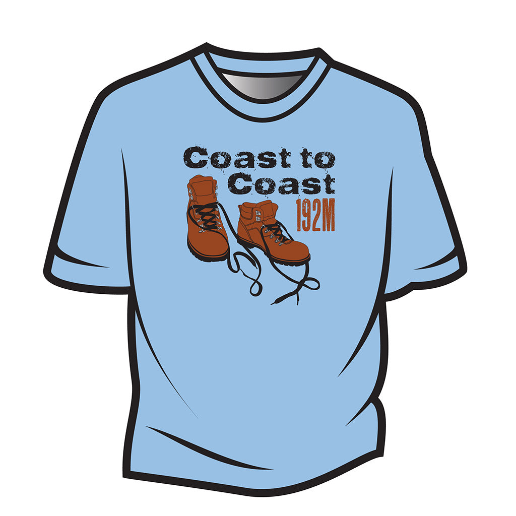 Light Blue Coast to Coast T-Shirt
