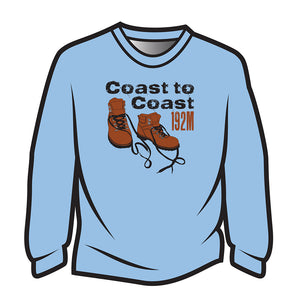 Light Blue Coast to Coast Long Sleeve T-Shirt