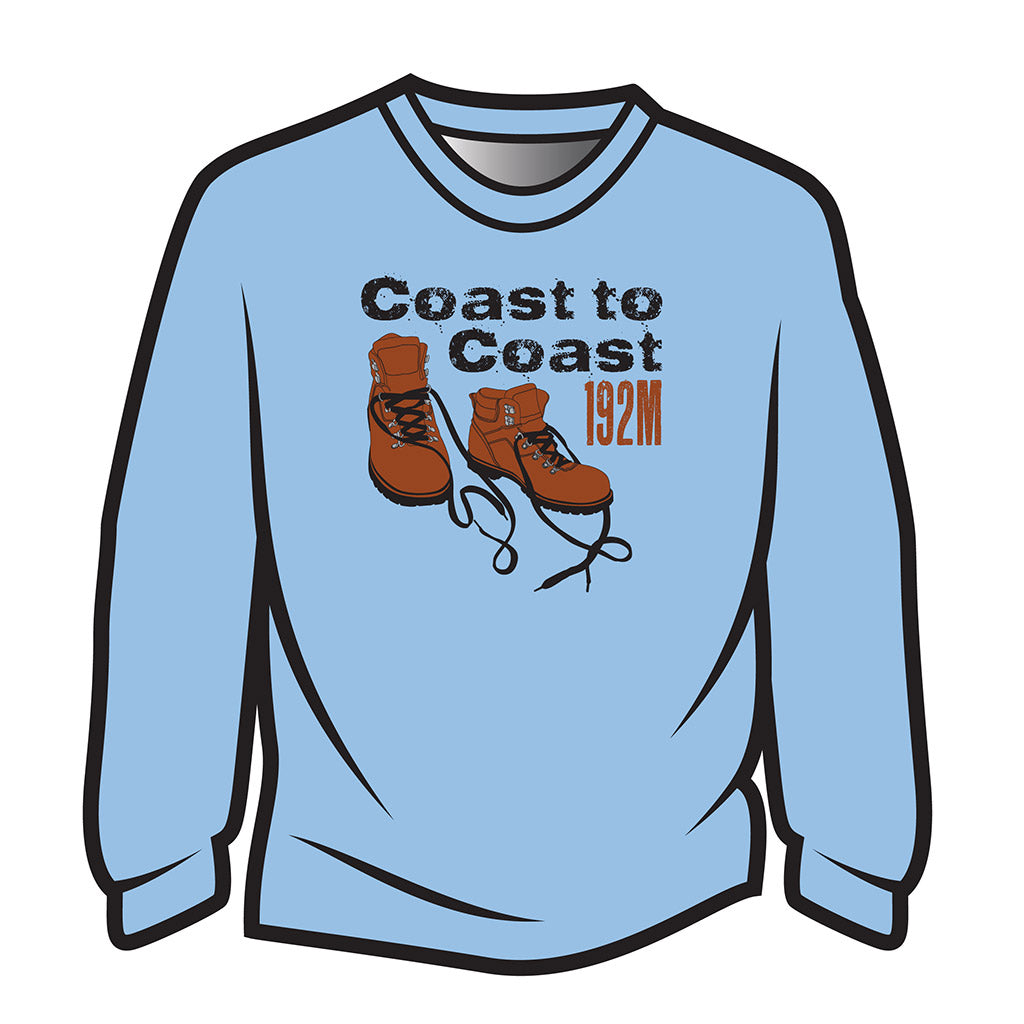 Light Blue Coast to Coast Sweatshirt
