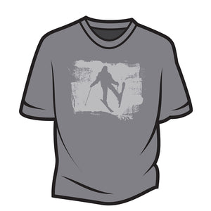 Light Grey Skier Design 2 T-Shirt