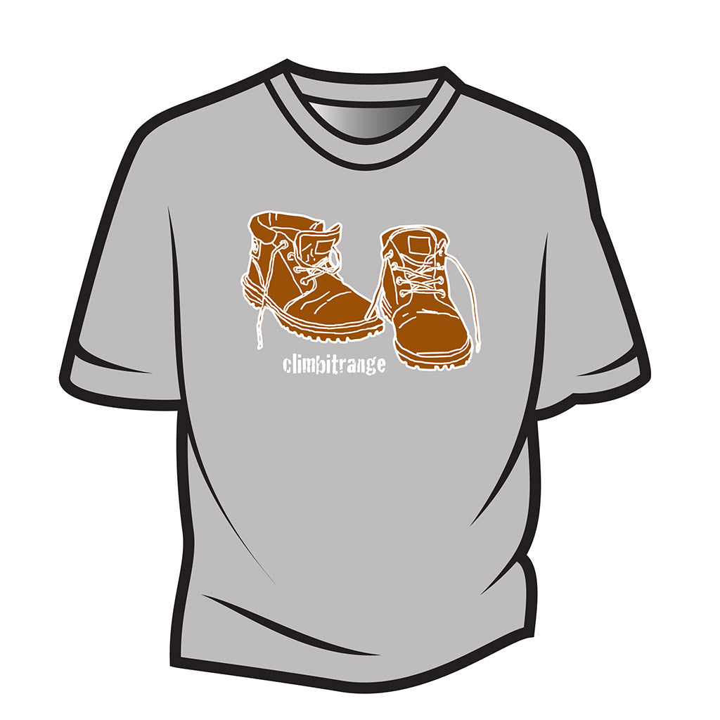 Light Grey climbitrange Boots T-Shirt