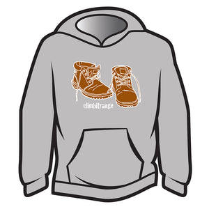 Light Grey climbitrange Boots Hoodie