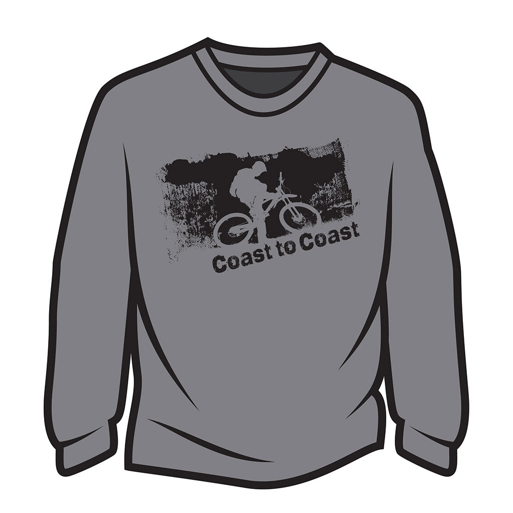 Light Grey Coast to Coast Biker Long Sleeve T-Shirt