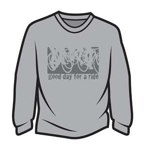 Light Grey Good day for a ride Sweatshirt