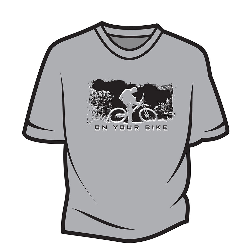 Light Grey On your bike T-Shirt