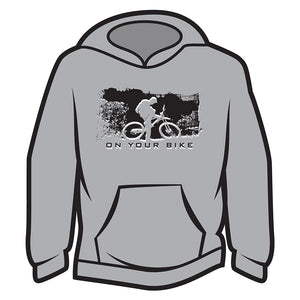 Light Grey On your bike Hoodie
