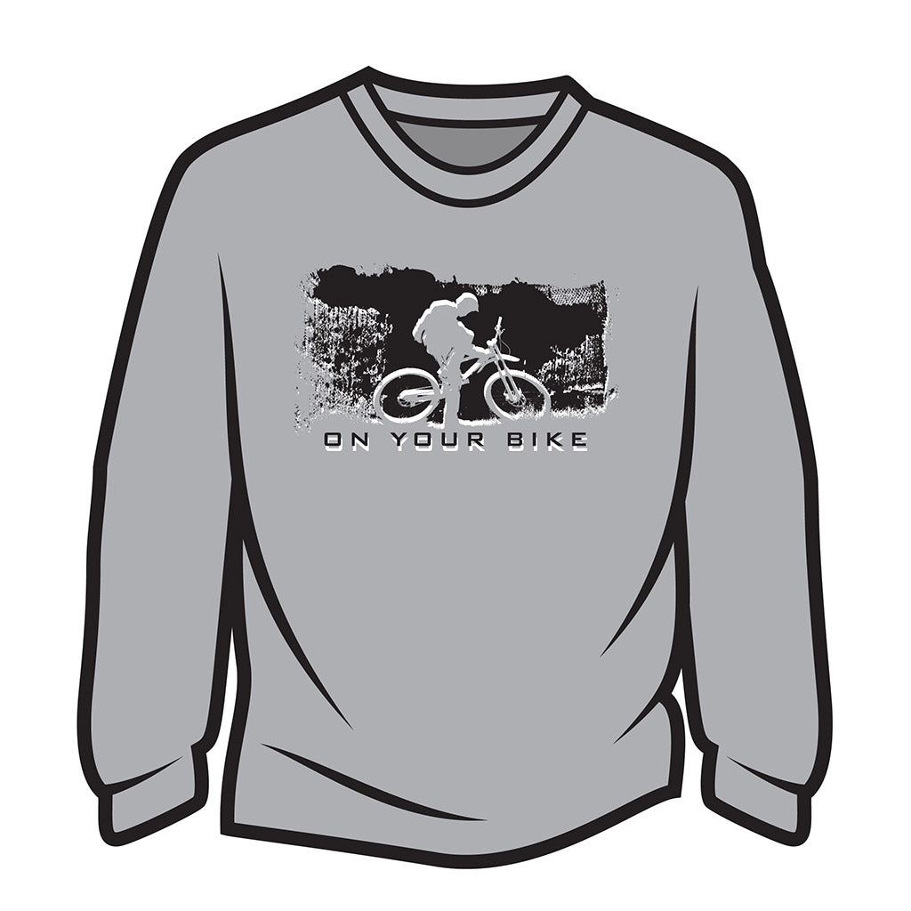 Light Grey On your bike Sweatshirt