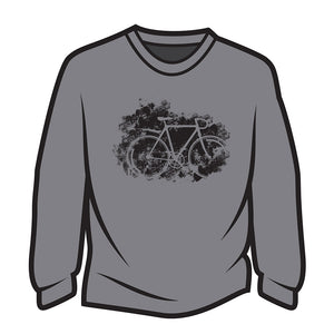 Light Grey Road bike Long Sleeve T-Shirt