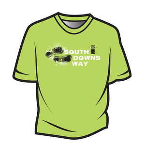 Lime South Downs Way Design 1 T-Shirt
