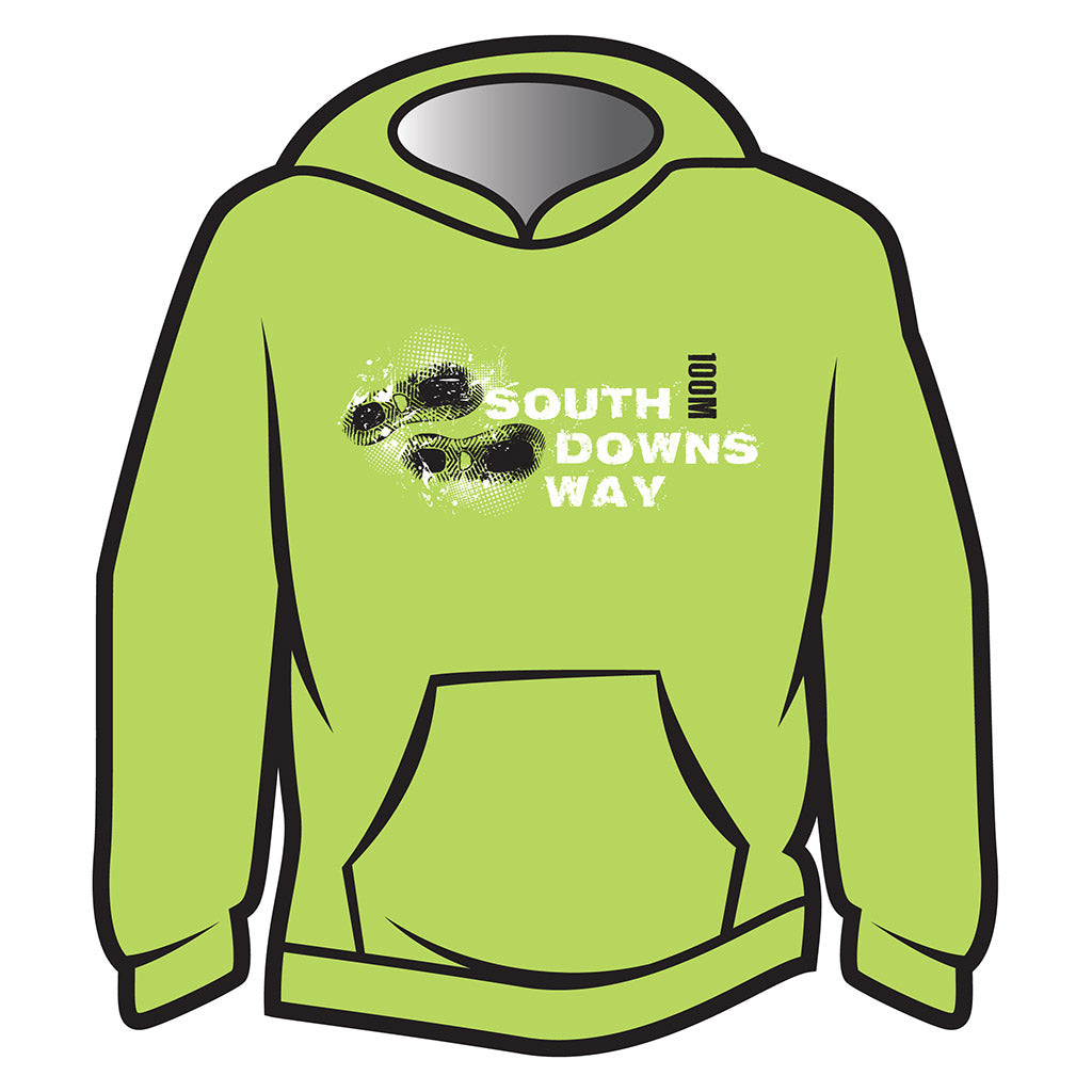 Lime South Downs Way Design 1 Hoodie