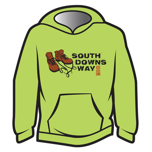 Lime South Downs Way Design 2 Hoodie