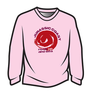 Pink Jurassic Coast Design 2 Long Sleeve T-Shirt