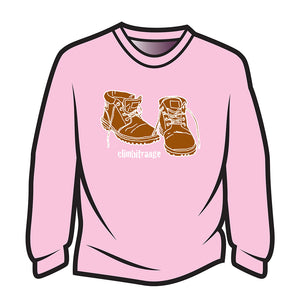 Pink climbitrange Boots Long Sleeve T-Shirt