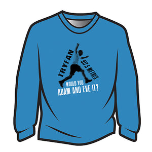 Blue Tryfan Long Sleeve T-Shirt