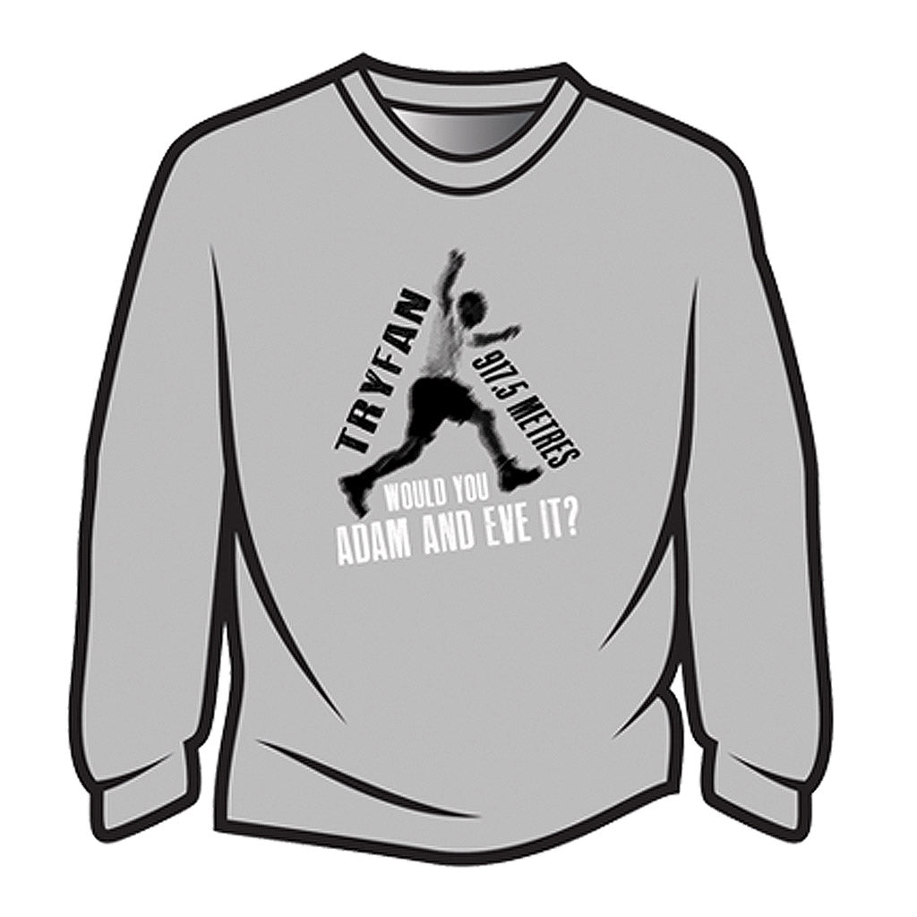 Light Grey Tryfan Long Sleeve T-Shirt
