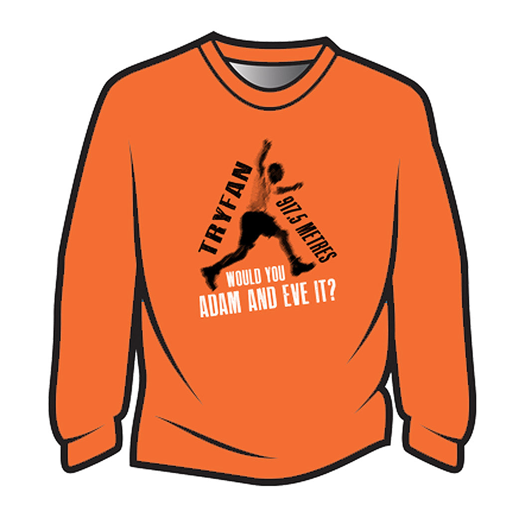 Orange Tryfan Long Sleeve T-Shirt