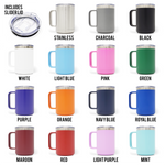 Coffee, Scrubs, And Rubber, Gloves. 15oz Insulated Stainless Steel Mug