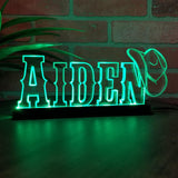 Custom Personalized Acrylic Cowboy LED Night Light