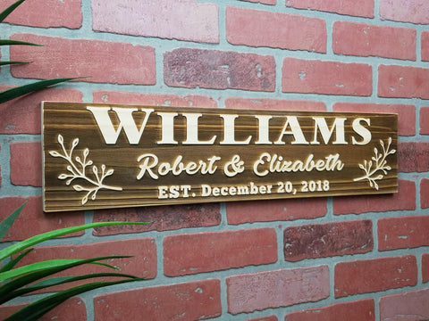 Wood Wedding Anniversary Sign Custom